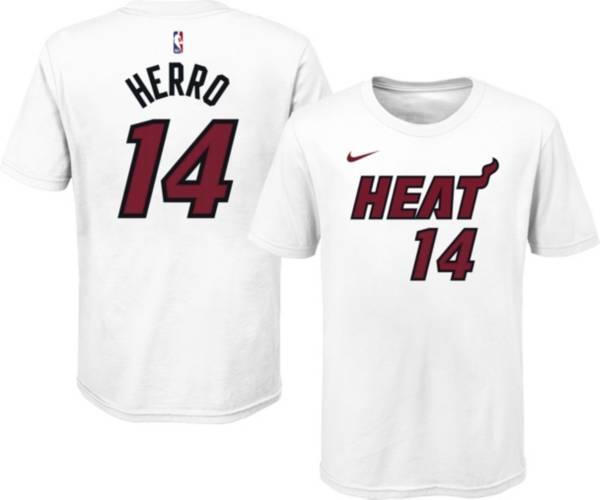 Nike Youth Miami Heat Tyler Herro #14 Cotton White T-Shirt product image