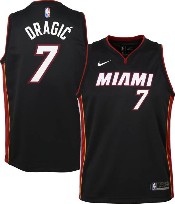 Nike Youth Miami Heat Goran Drajic#7 Black Dri-FIT Swingman Jersey product image