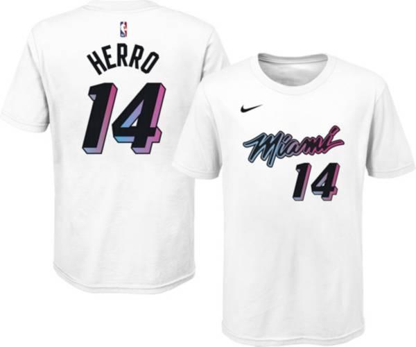 Nike Youth 2020-21 City Edition Miami Heat Tyler Herro #14 Cotton T-Shirt product image