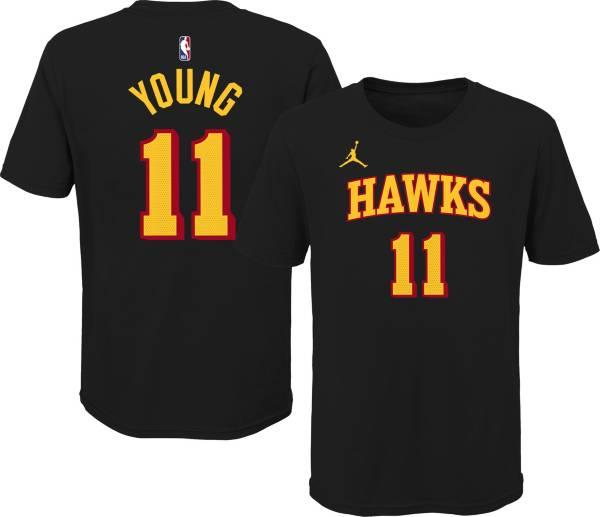 Jordan Youth Atlanta Hawks Trae Young #11 Statement Black T-Shirt product image
