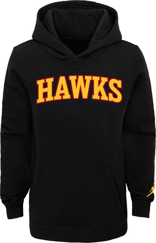 Jordan Youth Atlanta Hawks Black Statement Pullover Hoodie product image
