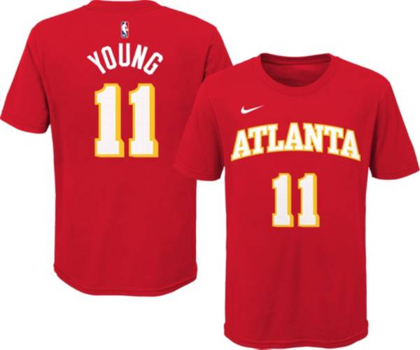 Nike Youth Atlanta Hawks Trae Young #11 Red Cotton T-Shirt product image