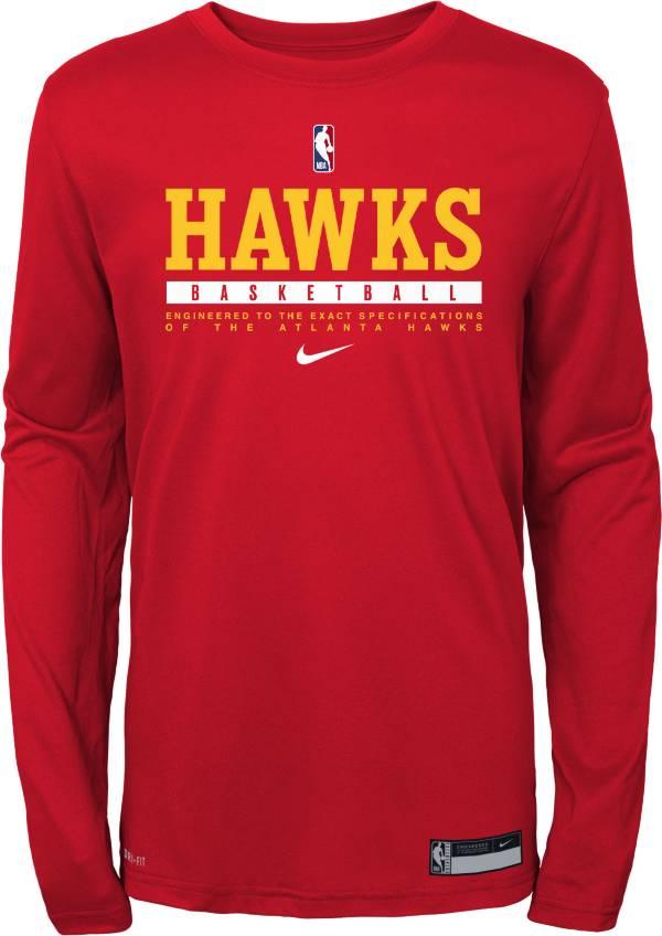 Nike Youth Atlanta Hawks Practice Performance Long Sleeve T-Shirt product image
