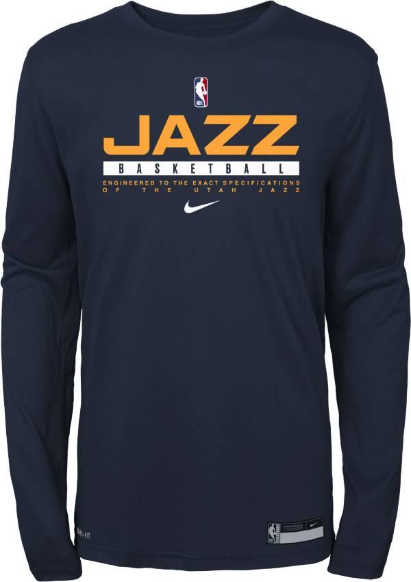 Nike Youth Utah Jazz Practice Performance Long Sleeve T-Shirt product image