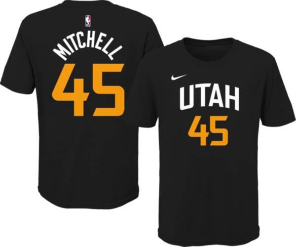 Nike Youth 2020-21 City Edition Utah Jazz Donovan Mitchell #45 Cotton T-Shirt product image