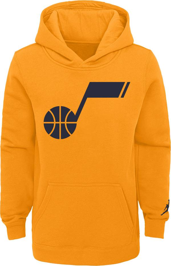 Jordan Youth Utah Jazz Yellow Statement Pullover Hoodie product image