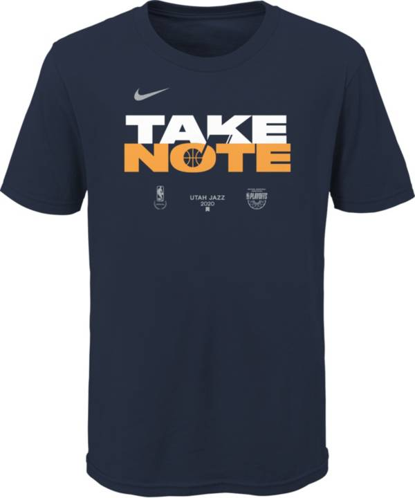 Nike Youth Utah Jazz Navy 2020 Playoffs Bound 'Take Note' Mantra T-Shirt product image
