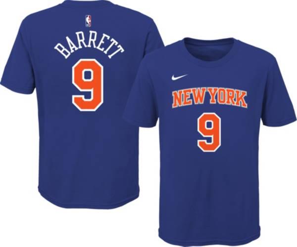 Nike Youth New York Knicks RJ Barrett #9 Blue Cotton T-Shirt product image