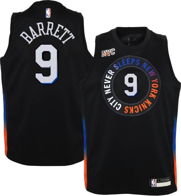Nike Youth 2020-21 City Edition New York Knicks RJ Barrett #9 Dri-FIT Swingman Jersey product image