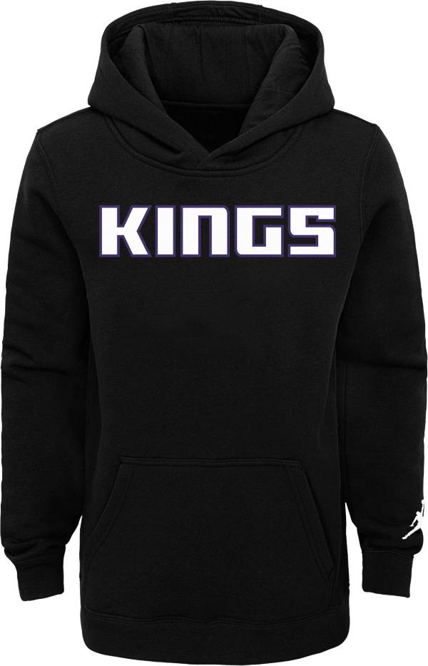 Jordan Youth Sacramento Kings Black Statement Pullover Hoodie product image