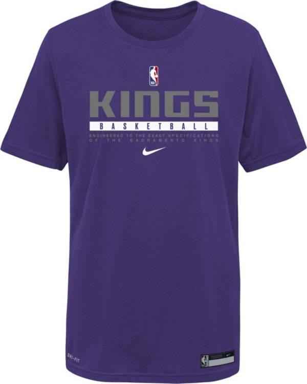 Nike Youth Sacramento Kings Purple Practice Performance T-Shirt product image