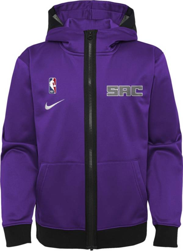 Nike Youth Sacramento Kings Purple Spotlight Full-Zip Hoodie product image
