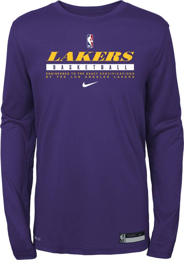 Nike Youth Los Angeles Lakers Practice Performance Long Sleeve T-Shirt product image
