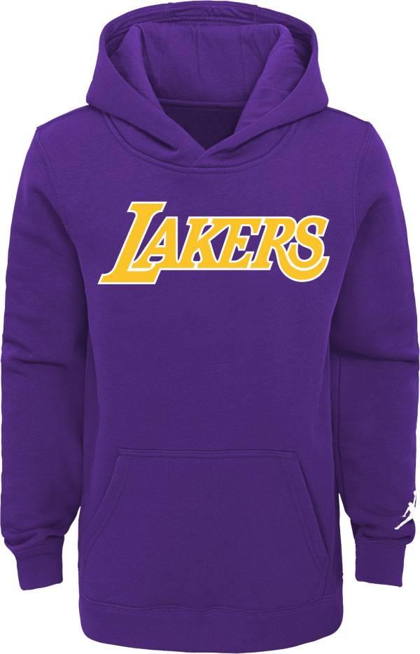 Jordan Youth Los Angeles Lakers Purple Statement Pullover Hoodie product image