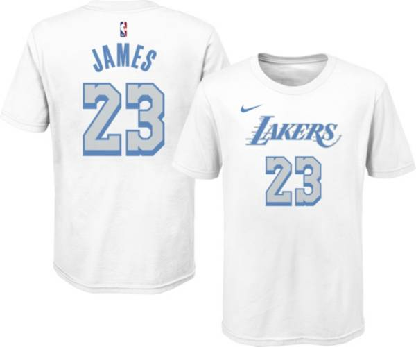 Nike Youth 2020-21 City Edition Los Angeles Lakers LeBron James #23 Cotton T-Shirt product image
