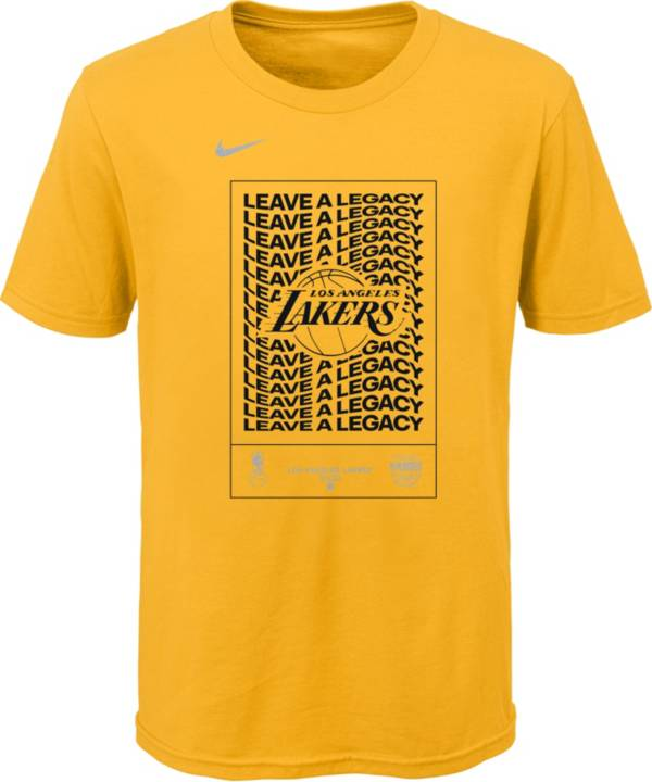 Nike Youth Los Angeles Lakers Gold 2020 Playoffs Bound 'Leave a Legacy' Mantra T-Shirt product image