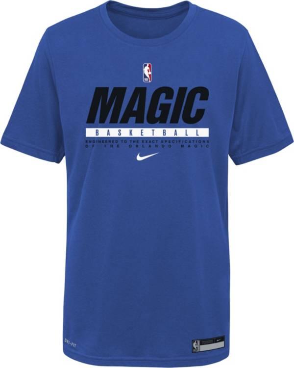 Nike Youth Orlando Magic Blue Practice Performance T-Shirt product image