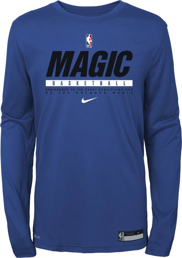Nike Youth Denver Nuggets Blue Practice Performance Long Sleeve T-Shirt product image