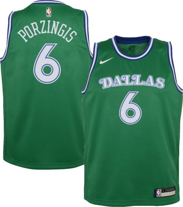 Nike Youth Dallas Mavericks Kristaps Porzingis #6 Green Dri-FIT Hardwood Classic Jersey product image