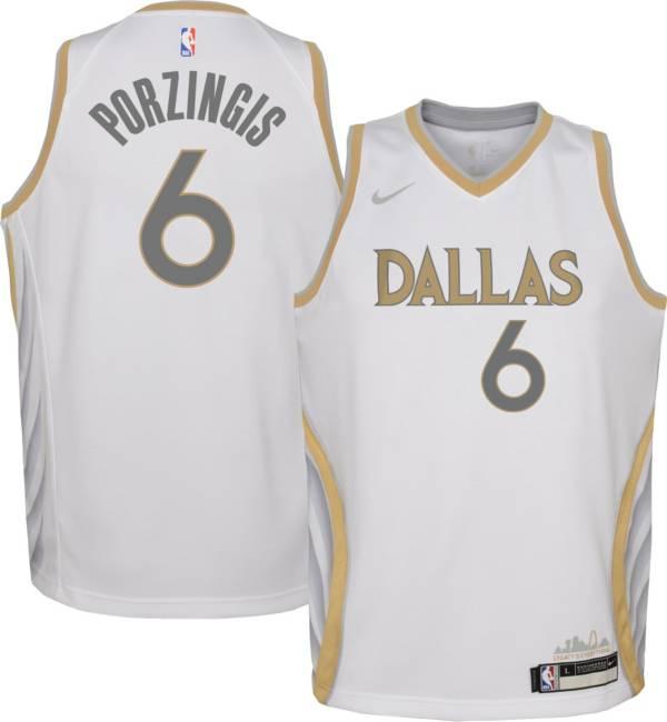 Nike Youth 2020-21 City Edition Dallas Mavericks Kristaps Porzingis #6 Dri-FIT Swingman Jersey product image