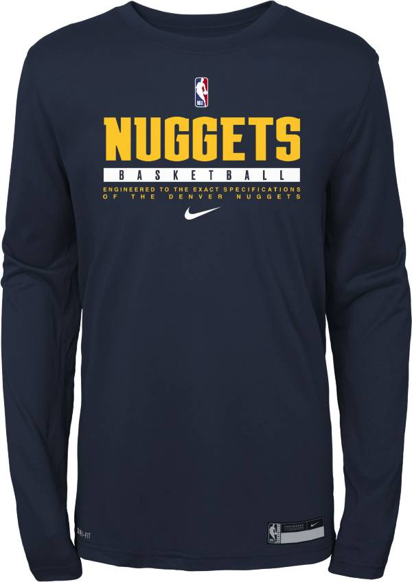 Nike Youth Denver Nuggets Practice Performance Long Sleeve T-Shirt product image