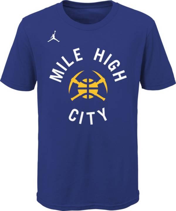 Jordan Youth Denver Nuggets Blue Statement T-Shirt product image