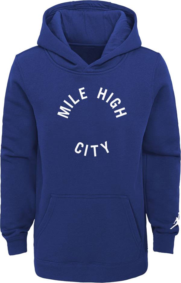 Jordan Youth Denver Nuggets Blue Statement Pullover Hoodie product image