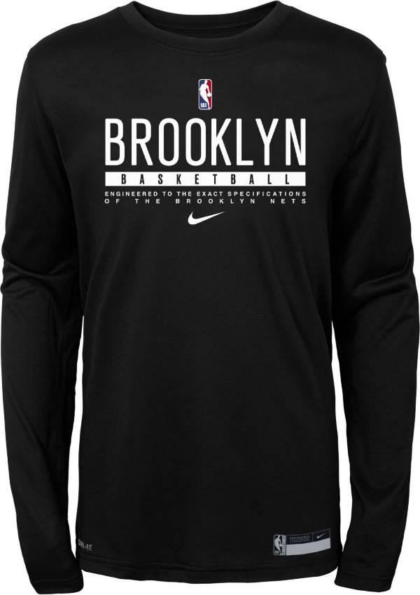 Nike Youth Brooklyn Nets Practice Performance Long Sleeve T-Shirt product image