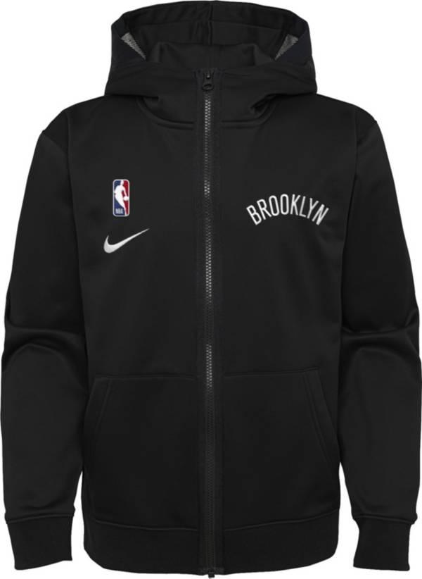 Nike Youth Brooklyn Nets Black Spotlight Full-Zip Hoodie product image