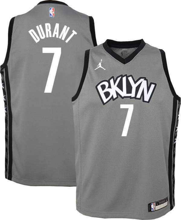 Jordan Youth Brooklyn Nets Kevin Durant #7 Grey 2020-21 Dri-FIT Statement Swingman Jersey product image