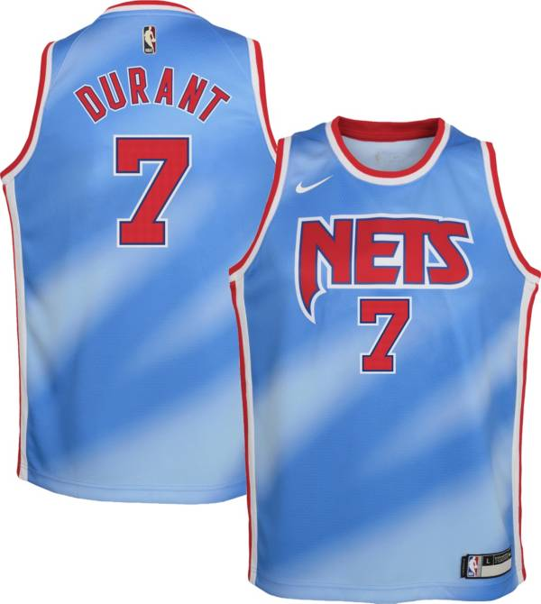 Nike Youth Brooklyn Nets Kevin Durant #7 Blue Dri-FIT Hardwood Classic Jersey product image