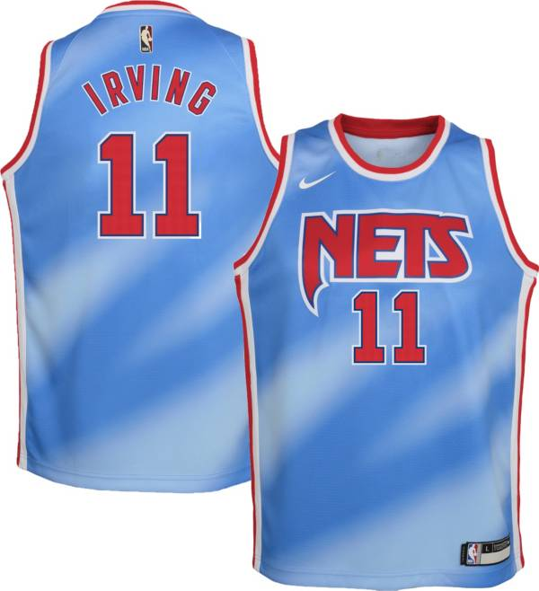 Nike Youth Brooklyn Nets Kyrie Irving #11 Blue Dri-FIT Hardwood Classic Jersey product image