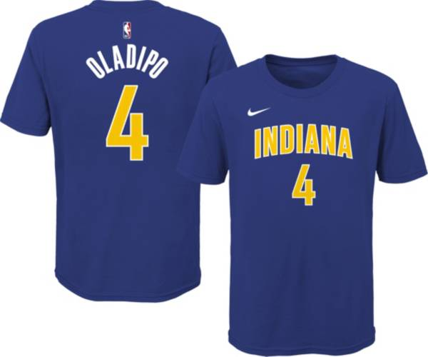 Nike Youth 2020-21 City Edition Indiana Pacers Victor Oladipo #4 Cotton T-Shirt product image
