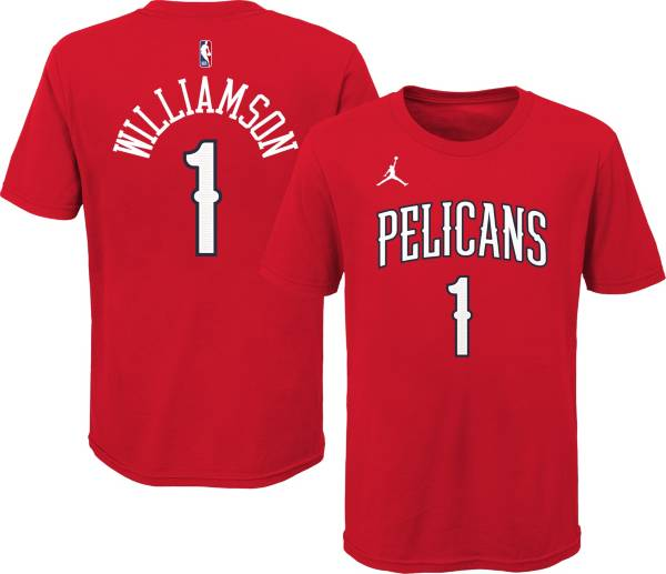 Jordan Youth New Orleans Pelicans Zion Williamson #1 Red Statement T-Shirt product image
