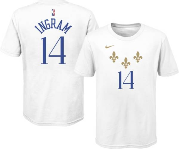 Nike Youth 2020-21 City Edition New Orleans Pelicans Brandon Ingram #14 Cotton T-Shirt product image