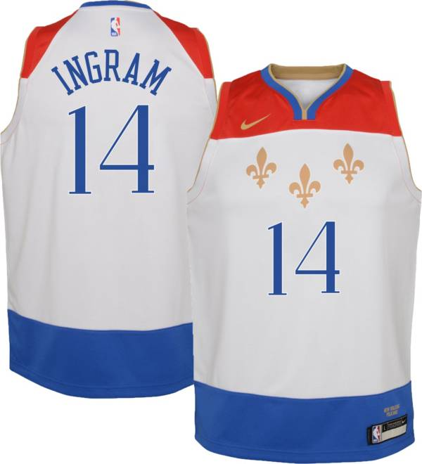 Nike Youth 2020 21 City Edition New Orleans Pelicans Brandon Ingram 14 Dri Fit Swingman Jersey Dick S Sporting Goods