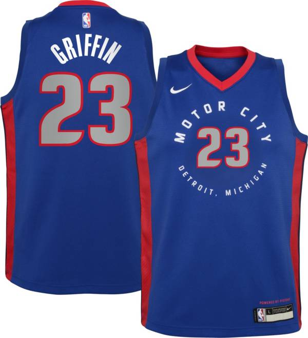 Nike Youth 2020-21 City Edition Detroit Pistons Blake Griffin #23 Dri-FIT Swingman Jersey product image