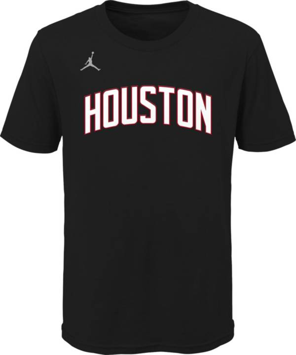 Jordan Youth Houston Rockets Black Statement T-Shirt product image