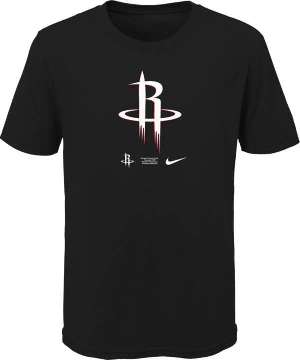 Nike Youth Houston Rockets Black Logo T-Shirt product image