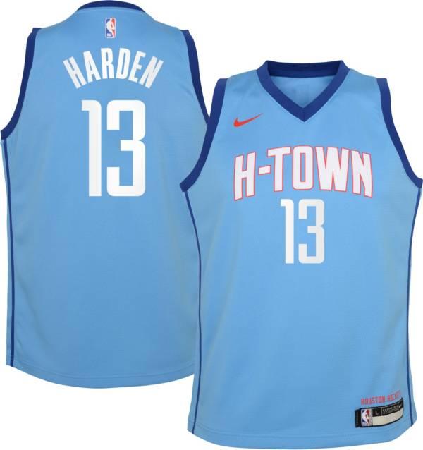 Nike Youth 2020-21 City Edition Houston Rockets James Harden #13 Dri-FIT Swingman Jersey product image