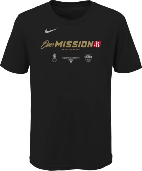 Nike Youth Houston Rockets 2020 Playoffs Bound 'One Mission' Mantra Black T-Shirt product image