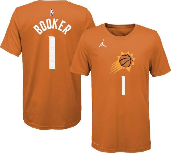 Jordan Youth Phoenix Suns Devin Booker #1 Orange Statement T-Shirt product image