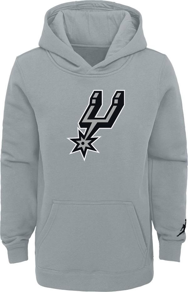 Jordan Youth San Antonio Spurs Grey Statement Pullover Hoodie product image