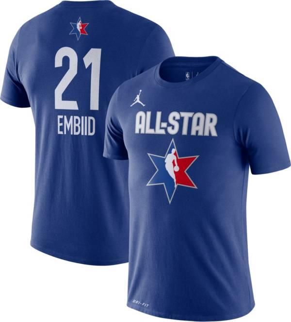 Jordan Youth 2020 NBA All-Star Game Joel Embiid Dri-FIT Blue T-Shirt product image