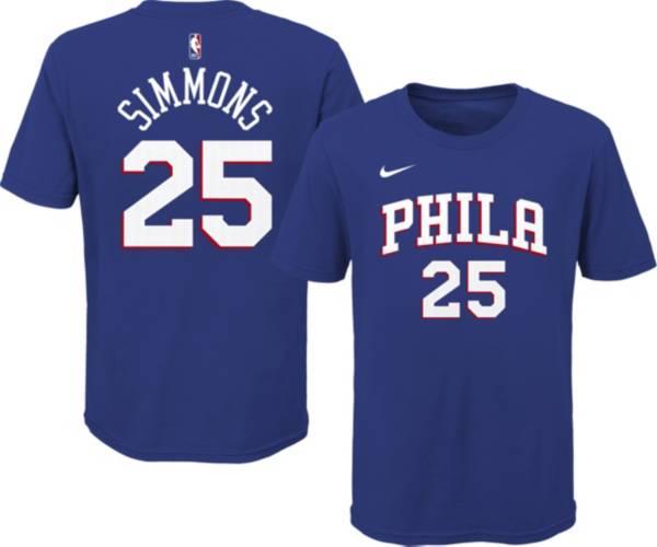Nike Youth Philadelphia 76ers Ben Simmons #25 Blue Cotton T-Shirt product image