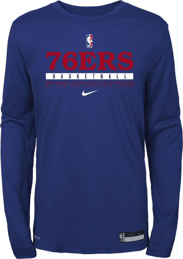 Nike Youth Philadelphia 76ers Practice Performance Long Sleeve T-Shirt product image