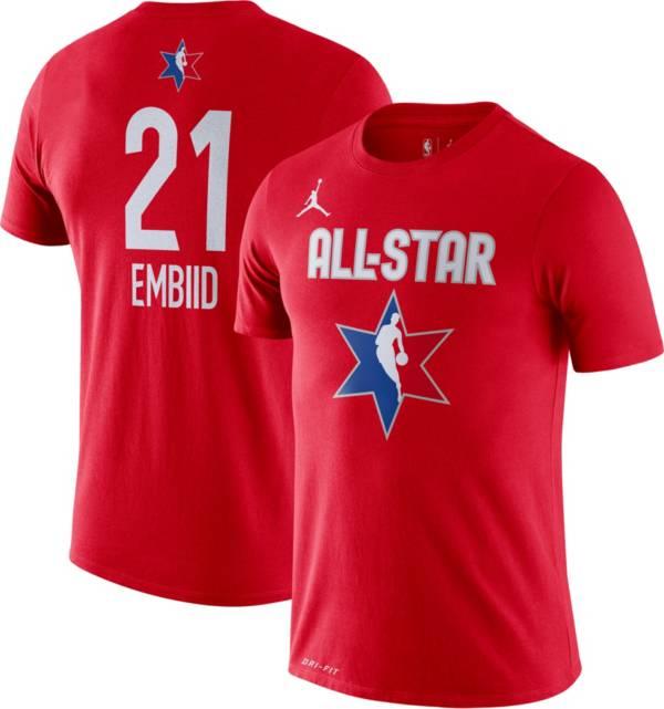 Jordan Youth 2020 NBA All-Star Game Joel Embiid Dri-FIT Red T-Shirt product image