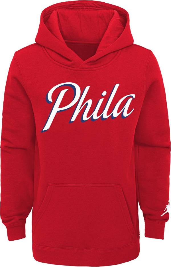 Jordan Youth Philadelphia 76ers Red Statement Pullover Hoodie product image