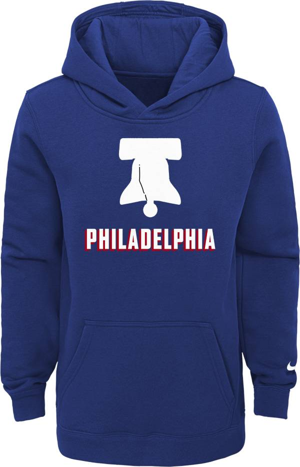 Nike Youth 2020-21 City Edition Philadelphia 76ers Logo Pullover Hoodie product image