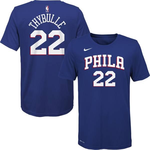 Nike Youth Philadelphia 76ers Matisse Thybulle #22 Dri-FIT Blue T-Shirt product image
